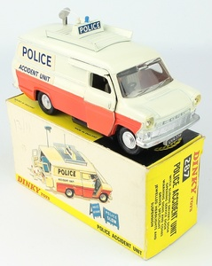 Dinky Toys #287 Ford Transit policía van Faro Joyas Y Antena De Techo