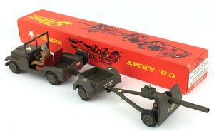 Tekno 814kp military jeep with cannon x2341