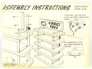 Corgi tinplate stand x3284
