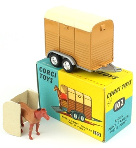 Corgi 102 rice's pony trailer x996