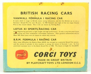 Corgi gift set 5 british racing cars yy536