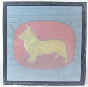 Corgi dog logo glass sign yy581
