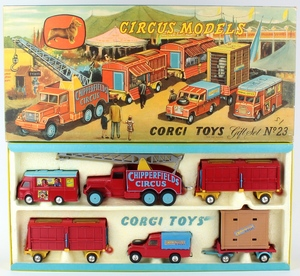 Corgi gift set 23 chipperfields circus yy124