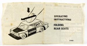 Corgi 506 Sunbeam Imp Police Car decal set only red