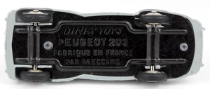 French dinky 24r peugeot 203 yy3312