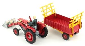 Corgi gift set 9 massey ferguson tractor shovel yy3883