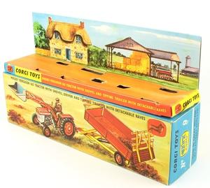 Corgi gift set 9 massey ferguson tractor shovel yy3884