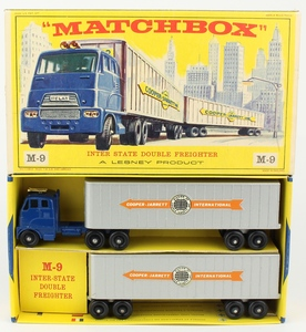Matchbox m9 inter state double freighter yy391
