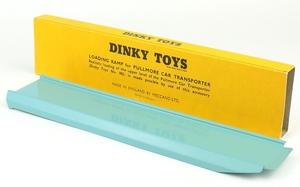 Dinky toys 982 pullmore car transporter ramp yy6286