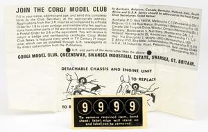 Corgi toys 319 lotus elan coupe yy7043