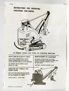 Corgi toys 1128 priestman cub shovel yy75012