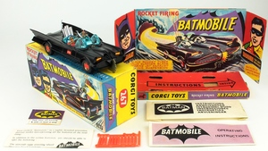 Corgi toys 267 batmobile matt black yy911