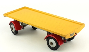 Shackleton foden model trailer yellow zz343