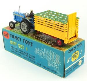 Corgi toys gift set 1 tractor beast carrier zz1411