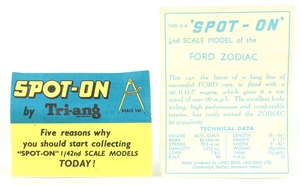 Spot on models 100 ford zodiac zz1773