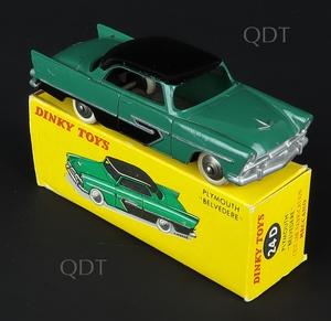 French dinky toys 24d plymouth belvedere zz481