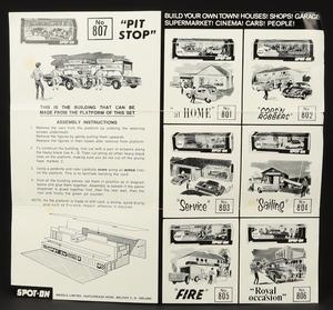 Spot on models 807 tommy spot pit stop zz6366